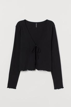H&M Cotton Jersey Cardigan - Black