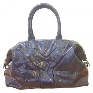 Saint Laurent Easy Navy Patent leather Handbags