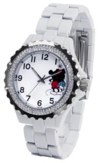 EWatchFactory Disney Mickey and Minnie Women's Enamel Alloy Watch 41mm