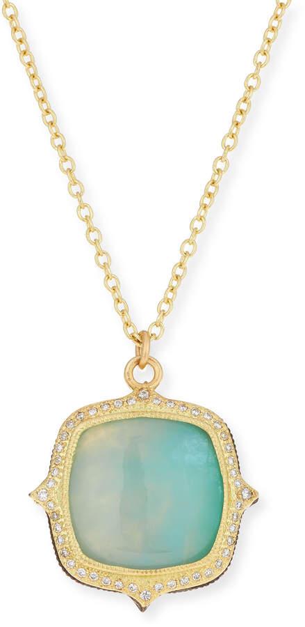 Armenta Old World 18k Aquaprase Pendant Necklace