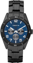 Claiborne Mens Black & Blue Multi-Function Watch