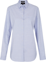 Oxford Horizontal Stripe Shirt Blue X