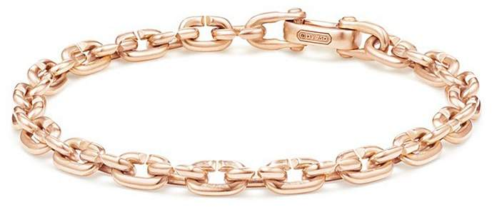 David Yurman Chain Link Narrow Bracelet in 18K Rose Gold