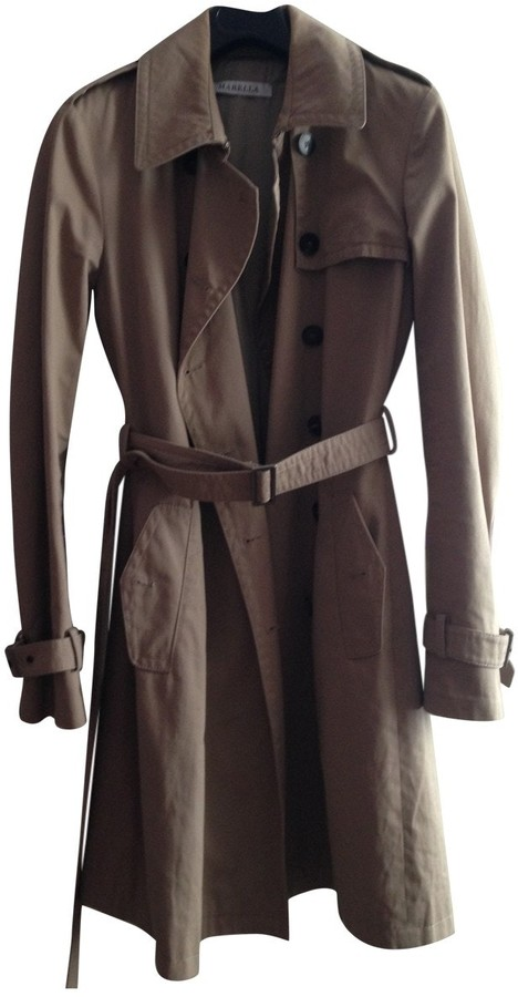 Marella Beige Cotton Trench Coat for Women