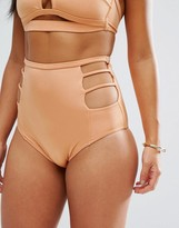 Asos FULLER BUST Exclusive Cut Out High Waist Bikini Bottom