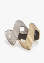 Bebe Chevron Clasp Bracelet Set (2)