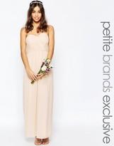 TFNC Petite WEDDING Bandeau Chiffon Maxi Dress