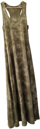 Silvian Heach Khaki Cotton Dresses