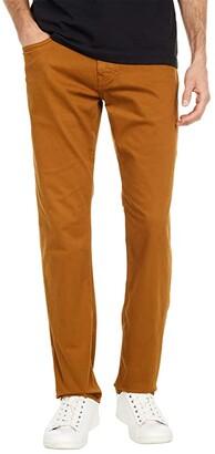 Mavi Jeans Zach Straight Leg (Mustard Sateen) Men's Casual Pants