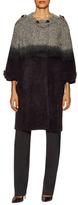 Prada Fur Leather Button Coat