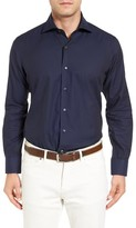 Peter Millar Men's Regular Fit Silky Herringbone Sport Shirt