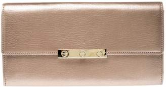 Cartier Metallic Leather Wallets