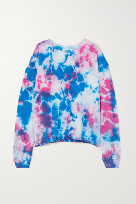YEAR OF OURS Tie-dyed Cotton-jersey Sweatshirt - Blue