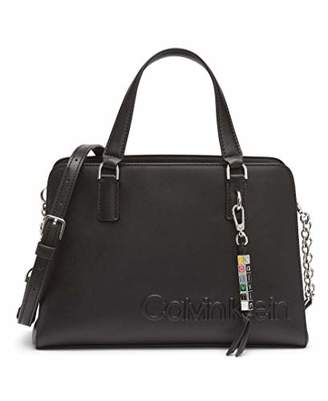 Calvin Klein Cube Smooth Vegan Leather Satchel