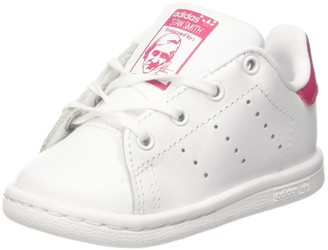 adidas Baby Girls Stan Smith Low-Top Sneakers White (Footwear White/Footwear White/Bold Pink 0) 5