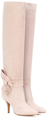 Valentino knee-high suede boots