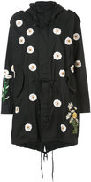 Creatures of the Wind daisy embroidery hooded coat - women - Cotton - One Size