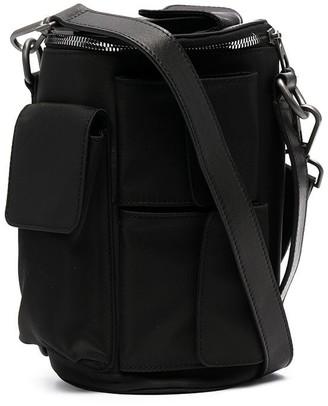 Feng Chen Wang Multiple-Pocket Tubular Shoulder Bag
