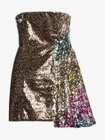 Halpern sequin embellished strapless dress