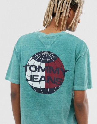 Tommy Jeans Summer Heritage Capsule t-shirt in green with back print logo