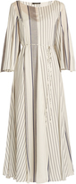 The Row Selar striped silk-habotai dress