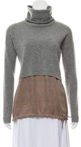 Fabiana Filippi Lightweight Turtleneck Combo Sweater