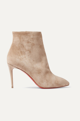 Christian Louboutin Eloise 85 Suede Ankle Boots - Beige