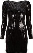 Jay Godfrey sequin appliqué short dress