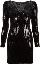 Jay Godfrey sequin appliqué short dress