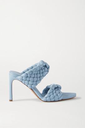 Bottega Veneta Intrecciato Quilted Leather Mules - Light blue