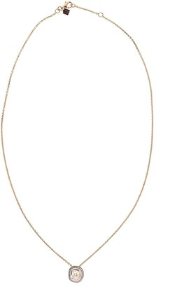 Selim Mouzannar 18kt rose gold Mina enamel and diamond necklace