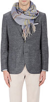 Colombo Men's Plaid Linen Scarf