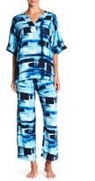 N Natori Glaze Dynasty Shirt & Pant Pajama Set