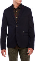 dstrezzed Dark Navy Two-Button Blazer