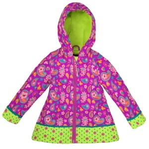 Stephen Joseph Little Girls All Over Print Raincoat