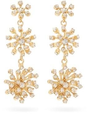 Rosantica Arcadia Starburst Crystal Drop Earrings - Gold