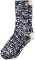 Joe Fresh Women's 2 Pack Melange Crew Socks, Grey (Size O/S)