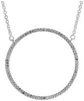 Lauren Ralph Lauren City Chic Silver & Pave Ring Pendant Necklace