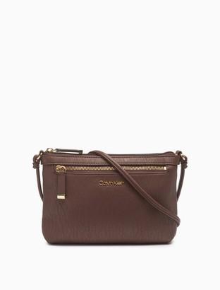 Calvin Klein Textured Grain Zip Top Swing Bag