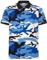 Sandro Camouflage Print Polo Shirt