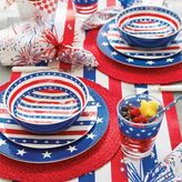 Sur La Table Stars and Stripes 12-Piece Melamine Dinnerware Set with 4 Bonus Appetizer Plates