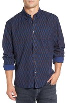 Scotch & Soda Men's Extra Trim Fit Print Woven Shirt