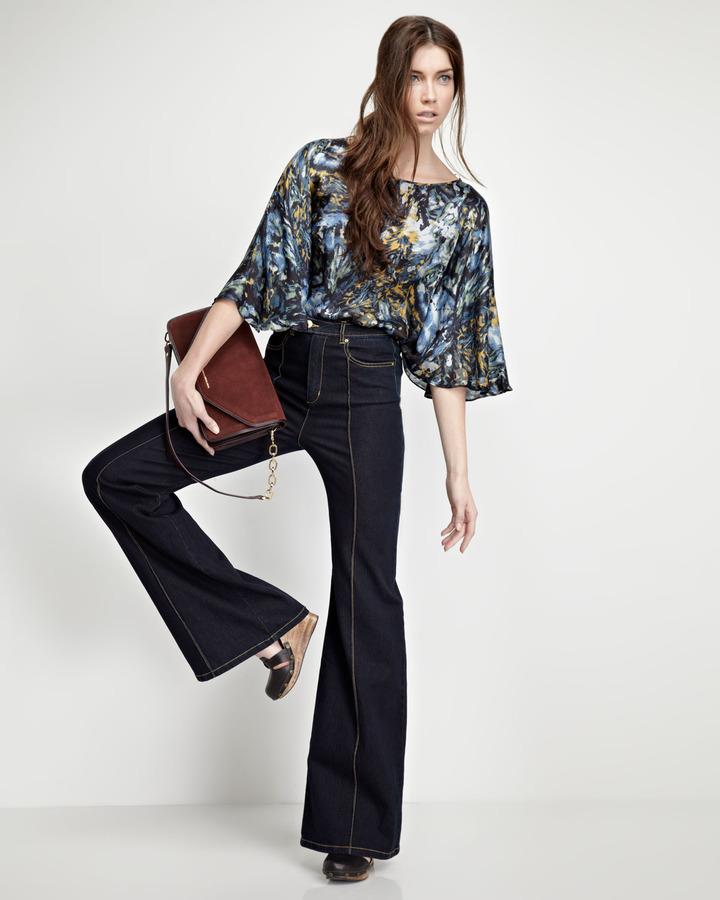 Rachel Zoe Richard High-Waist Jeans, Blue