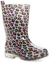 Capelli of New York Shiny Rainbow Leopard Rain Boot (Little Kid & Big Kid)