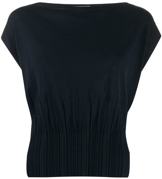 Nina Ricci Sleeveless Ribbed Hem Top