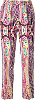 Etro printed track pants - women - Silk/Cotton - 42