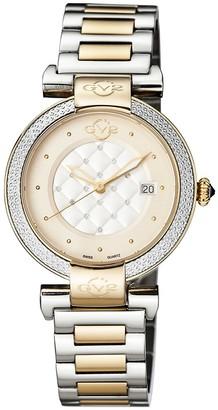 Gv2 Berletta Chronograph Two-Tone Stainless Steel Diamond Watch