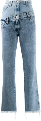Natasha Zinko Double-Waisted Straight Jeans