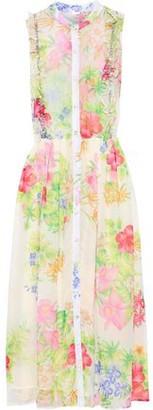 Dodo Bar Or Tania Crystal-embellished Floral-print Chiffon Midi Dress