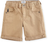 Armani Junior Twill Five-Pocket Shorts, Moccasin, Size 10-14